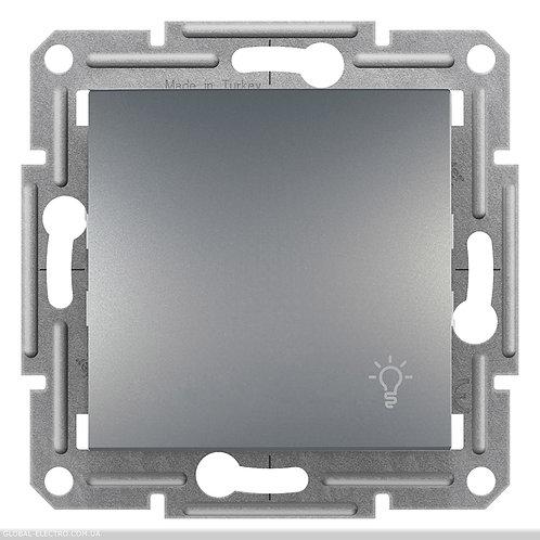 """EPH0900162 Кнопочный выключатель с символом """"СВЕТ"""", самозажимные, ASFORA СТАЛЬ"""