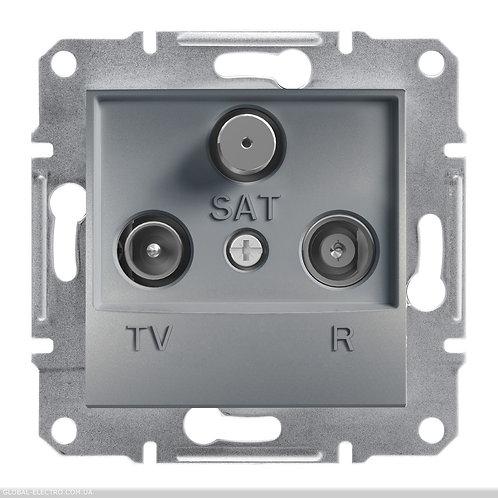 EPH3500262 TV-R-SAT РОЗЕТКА 4dB проходной ASFORA СТАЛЬ