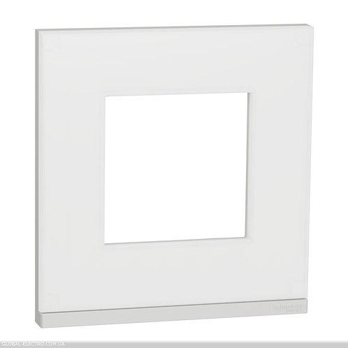 NU600289 Рамка 1-постова, горизонтальна, Матове скло/білий