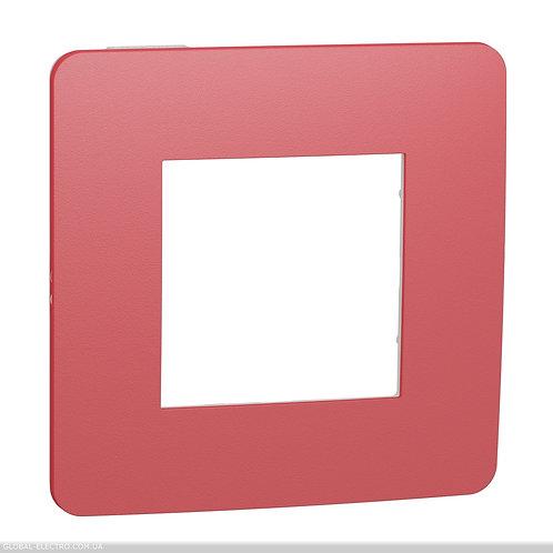 NU280213 Рамка 1-постова, Червона/білий