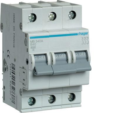 Автоматичний вимикач 3P 6kA B-40A 3M