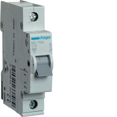 Автоматичний вимикач 1P 6kA C-13A 1M