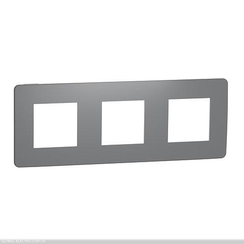 NU280621 Рамка 3-постова, Димчато-сірий/білий