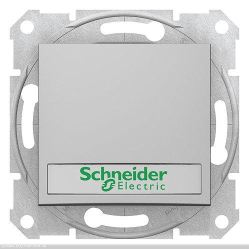 SDN1600360 Кнопочный выкл SEDNA с подсв и полем для Маркировка АЛЮМИНИЙ