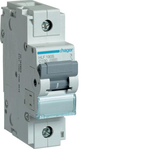 Автоматичний вимикач 1P 10kA C-100A 1.5M