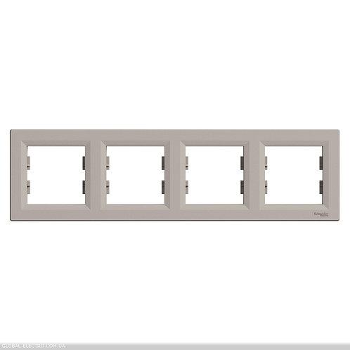 EPH5800469 РАМКА четырехместный горизонтально, ASFORA БРОНЗА