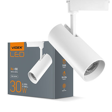 LED светильник трековый VIDEX 30W 4100K 220V белый 20шт/ящ VL-TR04-304W