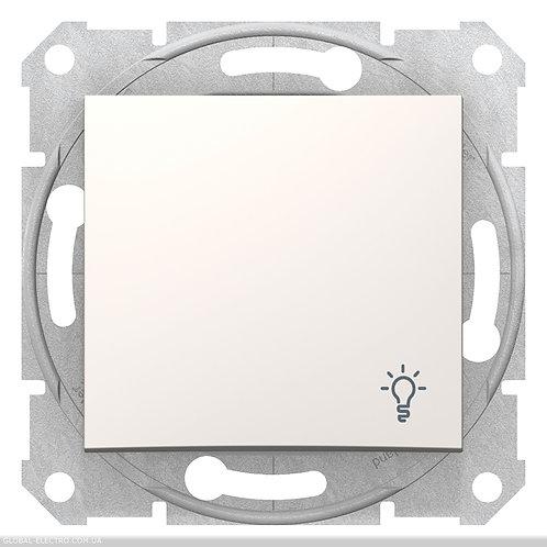 """SDN0900123 Кнопочный выключатель с символом """"СВЕТ"""" SEDNA слоновой кости"""