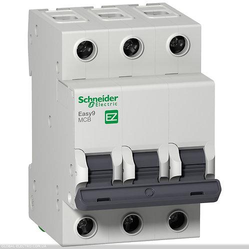 "EZ9F34340 Автоматический выключатель EASY 9 3П 40А 4,5 кА характеристика ""С"""