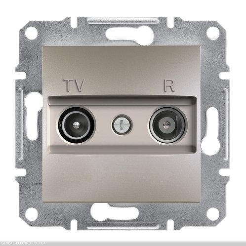 EPH3300269 TV / R РОЗЕТКА 4dB проходной ASFORA БРОНЗА