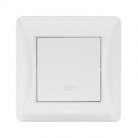 VIDEX BINERA Выключатель 1кл промежуточный белый (VF-BNSW1I-W) (20/120)