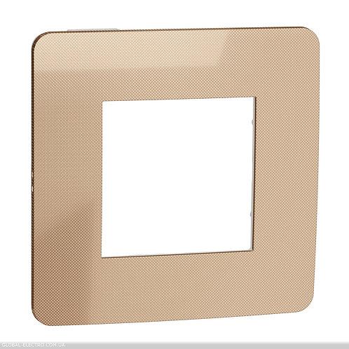 NU280257 Рамка 1-постова, Мідь/білий