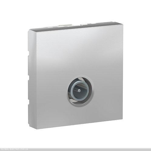 NU346230 Розетка TV одинарна, 2 модуля алюміній