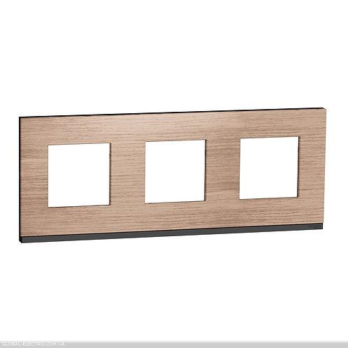 NU600684 Рамка 3-постова, горизонтальна, Дуб/антрацит