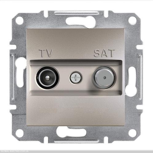 EPH3400269 TV-SAT РОЗЕТКА 4dB проходной ASFORA БРОНЗА