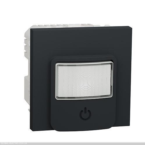 NU352554 Датчик руху з вимикачем 10 A антрацит