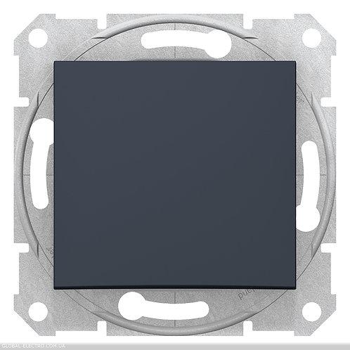 SDN0700170 Кнопочный выключатель SEDNA ГРАФИТ