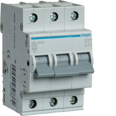 Автоматичний вимикач 3P 6kA B-50A 3M