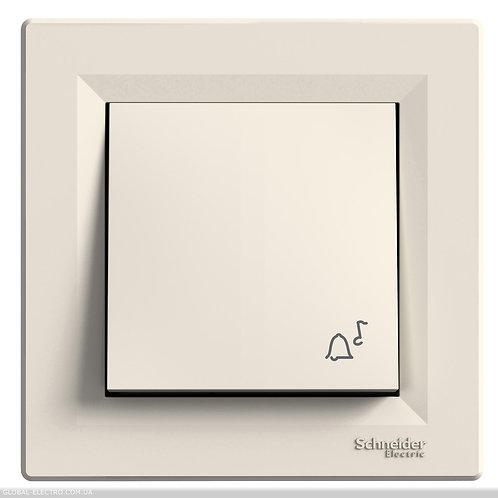 """EPH0800123 Кнопочный выключатель с символом """"ЗВОНОК"""", самозажимные, КРЕМ ASFORA"""