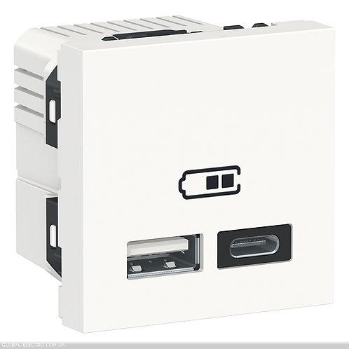 NU301818 Подвійна USB розетка A+C білий