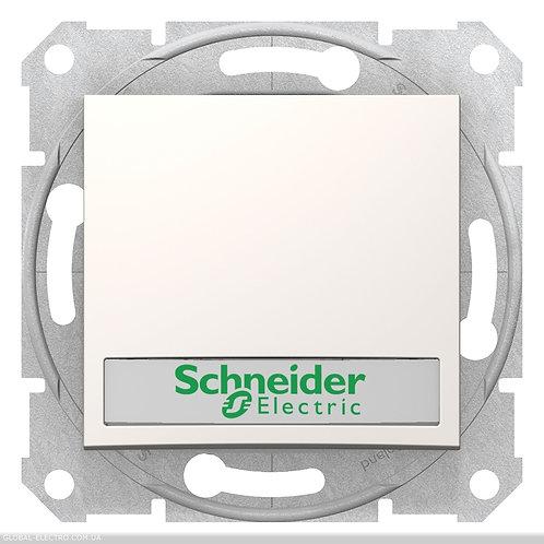 SDN1600323 Кнопочный выключатель SEDNA с подсв и полем для Марк слоновой кости