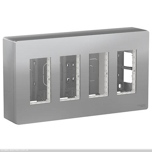 NU124430 Блок unica system+ відкрита вставка 4х2 алюміній