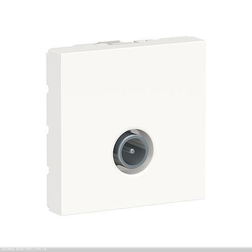 NU346218 Розетка TV одинарна, 2 модуля білий