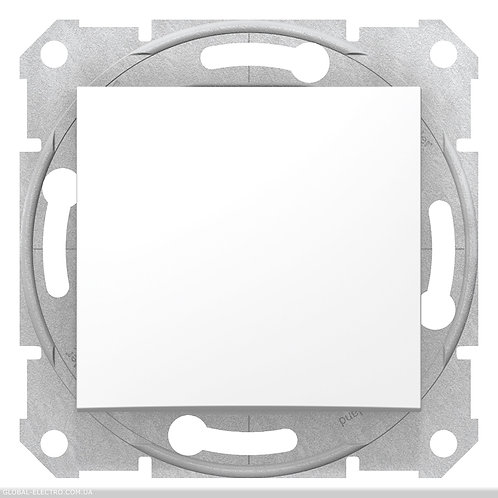 SDN0200221 2-х полюсный Одноклавишный ВЫКЛЮЧАТЕЛЬ SEDNA БЕЛЫЙ