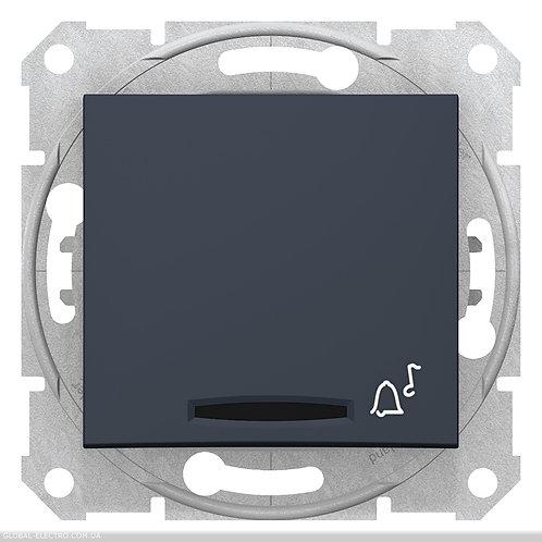 """SDN1600470 Кнопочный выключатель SEDNA из символов """"ЗВОНОК"""" и подсветкой ГРАФИТ"""