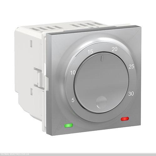 NU350130 Термостат кімнатний, вбудованний датчик 8А алюміній