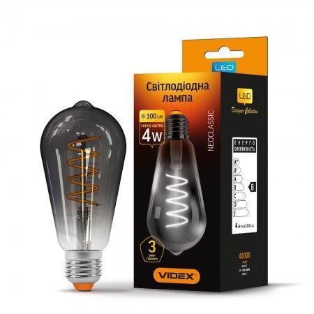LED лампа VIDEX Filament ST64FGD 4W E27 2100K 220V VL-ST64FGD-04272