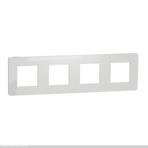 NU280818 Рамка 4-постова, Білий/білий