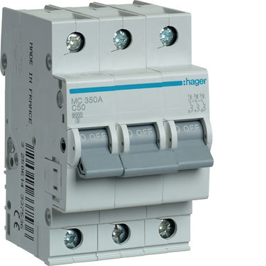 Автоматичний вимикач 3P 6kA C-50A 3M