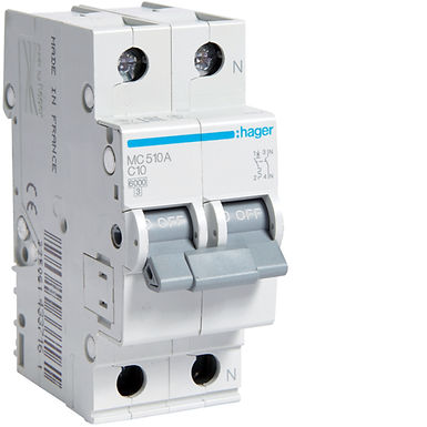 Автоматичний вимикач 1P+N 6kA C-10A 2M