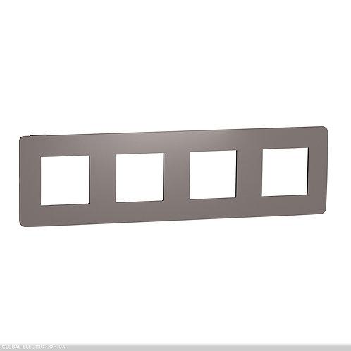 NU280817 Рамка 4-постова, Шоколад/антрацит
