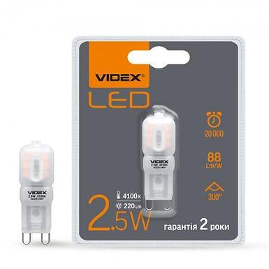 VL-G9e-25224 LED лампа VIDEX G9e 2.5W G9 4100K 220V