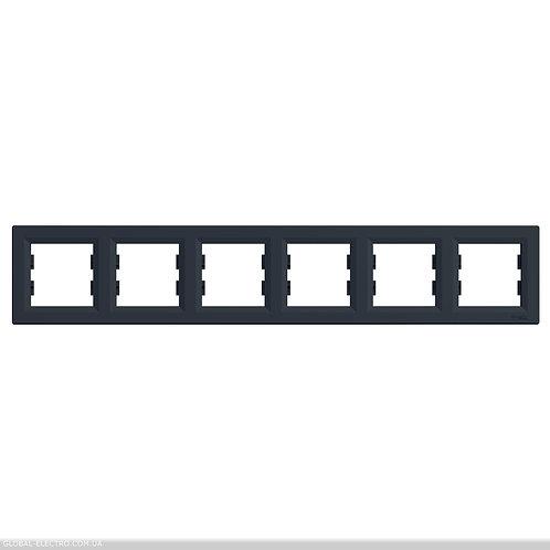 EPH5800671 РАМКА шестиместный горизонтально, ASFORA АНТРАЦИТ