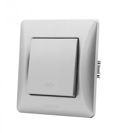VIDEX BINERA Выключатель 1кл промежуточн сер шёлк (VF-BNSW1I-SS)