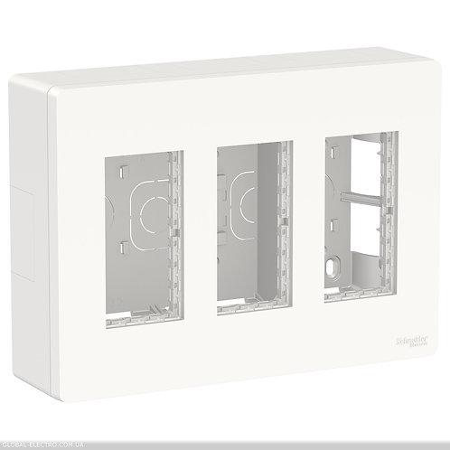 NU123418 Блок unica system+ відкртита вставка 3х2 білий