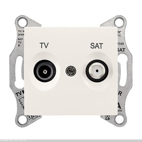 SDN3401923 TV / SAT РОЗЕТКА проходной слоновой кости
