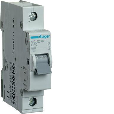 Автоматичний вимикач 1P 6kA C-20A 1M