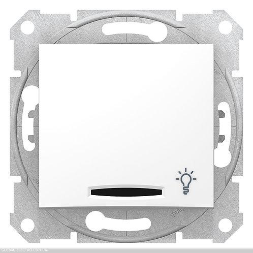"""SDN1800121 Кнопочный выключатель SEDNA из символов """"СВЕТ"""" и подсветкой БЕЛЫЙ"""