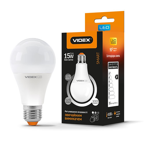 LED лампа VIDEX  A65eD3 15W E27 4100K 220V