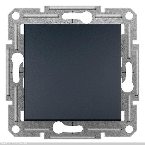 EPH0700171 Кнопочный выключатель, самозажимные, ASFORA АНТРАЦИТ