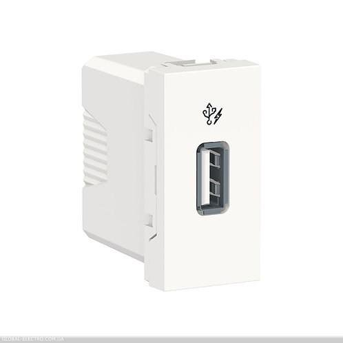 NU342818 Розетка USB 1 модуль білий