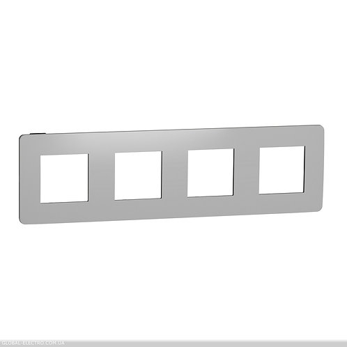 NU280856 Рамка 4-постова, Хром/антрацит