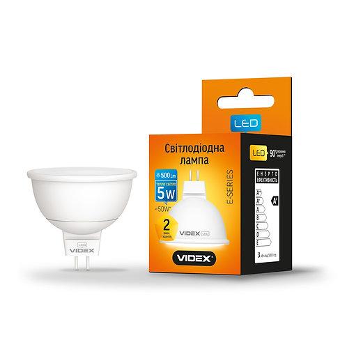 LED лампа VIDEX MR16е 5W GU5.3 3000K 220V