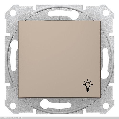 """SDN0900168 Кнопочный выключатель с символом """"СВЕТ"""" SEDNA ТИТАН"""