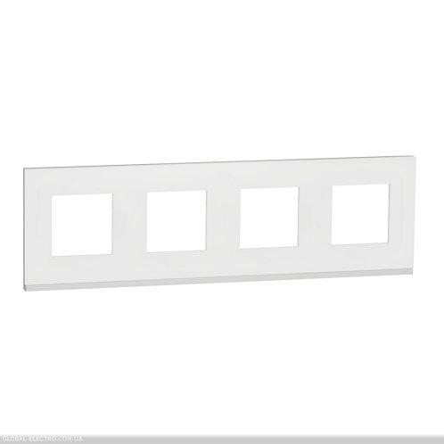 NU600889 Рамка 4-постова, горизонтальна, Матове скло/білий
