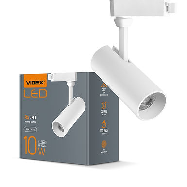 LED светильник трековый VIDEX 10W 4100K 220V белый 20шт/ящ VL-TR04-104W